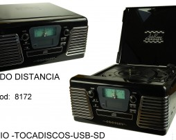 RADIO TOCADISCOS COMPATIBLE CON USB Y SD