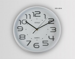 RELOJ PARED BLANCO DIAMETRO 28 CMS