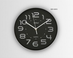 RELOJ PARED NEGRO DIAMETRO 28 CMS