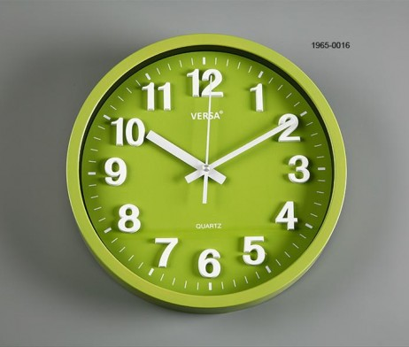 RELOJ PARED VERDE DIAMETRO 30 CMS