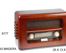 RADIO MADERA BOTONES