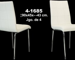 SET DE 4 SILLAS POLIPIEL BLANCA